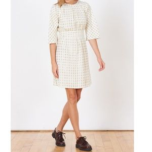 Ace & Jig Beatrice dress in gold afterglow